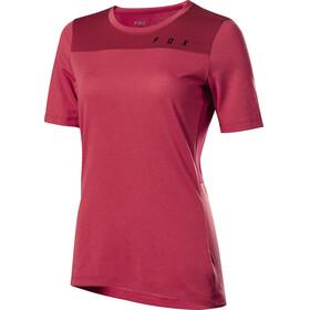 Fox Ranger Dr Koszulka kolarska, krótki rękaw Kobiety czerwony